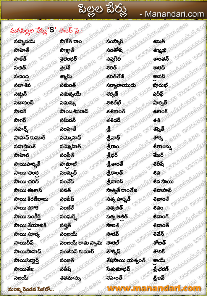 Hindu Baby Boy Names Starting With S Latest 2019 - 120 ...